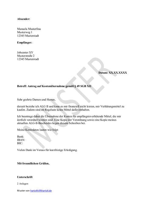 Brief Antrag Weiterbildung Hartz 4 Antrag Muster F 252 R Alle Belange Hartz Iv Alg 2