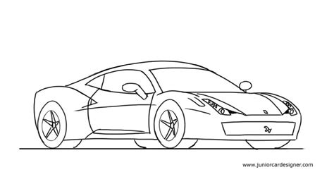 ferrari sketch how to draw a ferrari 458 junior car designer