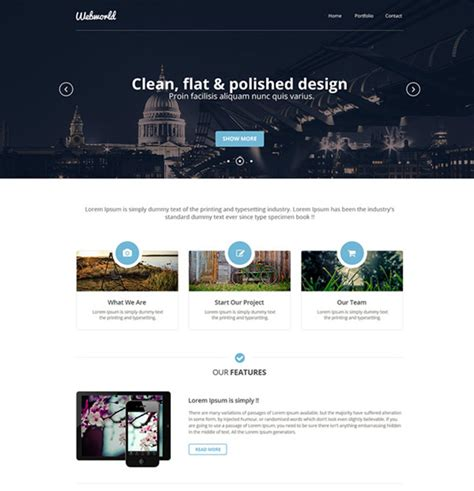 12 Free Modern Psd Website Templates Web Graphic Design Bashooka Web Designer Templates