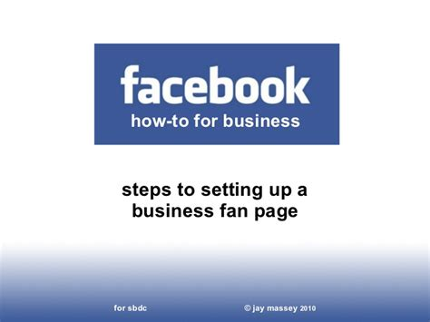 how to setup a facebook fan page how to set up a facebook fan page for business