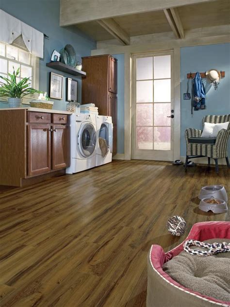 laundry room with vinyl flooring hgtv