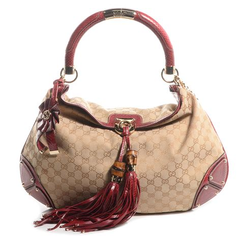Gucci Embroidered Indy Large Hobo by Gucci Monogram Python Large Unicef Indy Top Handle Hobo