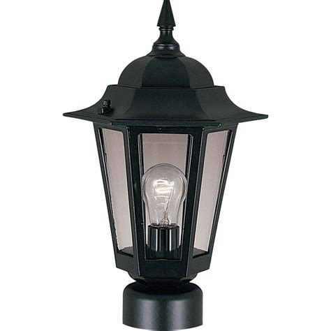 Patio Pole Lights Maxim Lighting Builder Cast 1 Light Black Outdoor Pole Post Mount 3001clbk The Home Depot