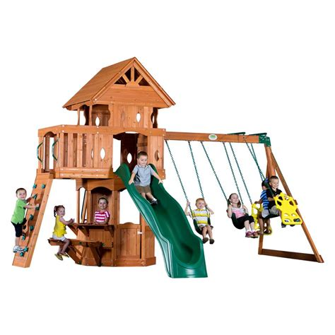 the 10 best wooden swing sets and playsets to buy in 2018