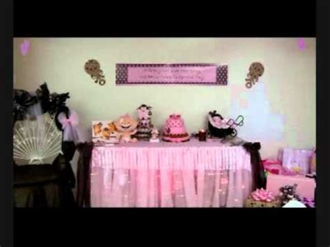 Pink And Brown Baby Shower Theme by Baby Shower Pink And Brown Theme Wmv