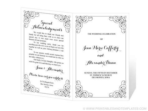three column wedding program template 28 images