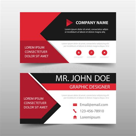 horizontal cards templates business card template horizontal choice image card