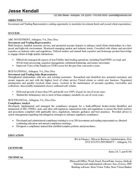 Trader Assistant Sle Resume by Resume Trading 28 Images International Trading Resume Sle Resumes Design Marwaha Resume
