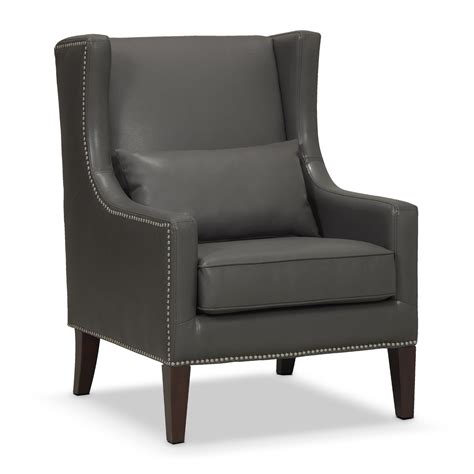 Small Leather Wingback Chair Design Ideas Classic Grey Small Leather Chairs With Wingback Backrest Design