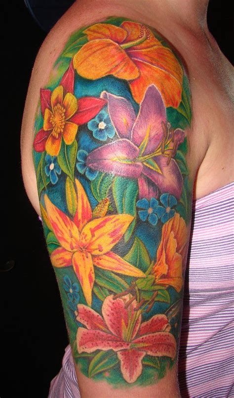 hawaiian flower tattoos for men 157 best forearm tattoos for images on