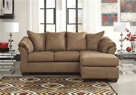 darcy mocha sofa chaise overstock warehouse