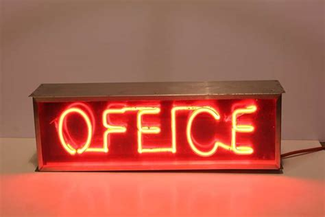Office Desk Signs 1950 S Neon Office Sign At 1stdibs