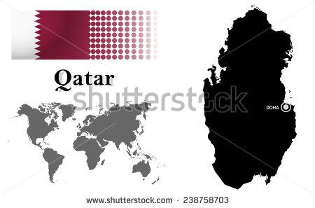 qatar map vector qatar map stock photos images pictures