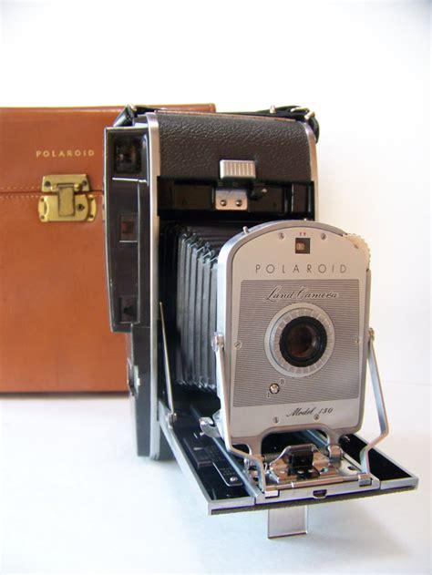 vintage polaroid land vintage polaroid land model 150 with leather polaroid