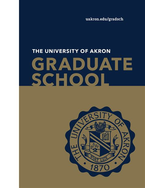 Of Akron Mba by Graduate School Viewbook The Of Akron