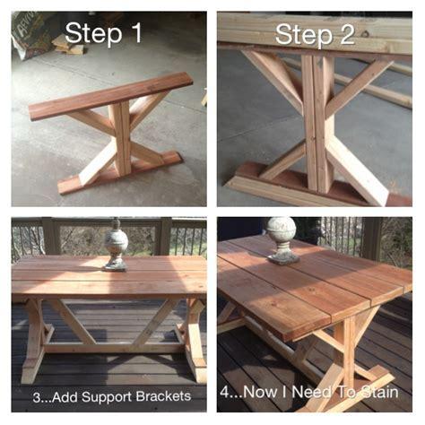 Hometalk   Budget Restoration Hardware Outdoor Table Replica
