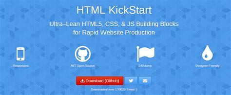 html kickstart themes top five best responsive web design frameworks ingenium web
