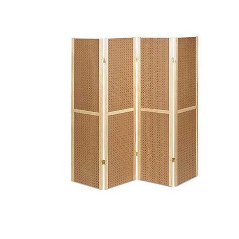folding 4 panel pegboard display unit discount shelving