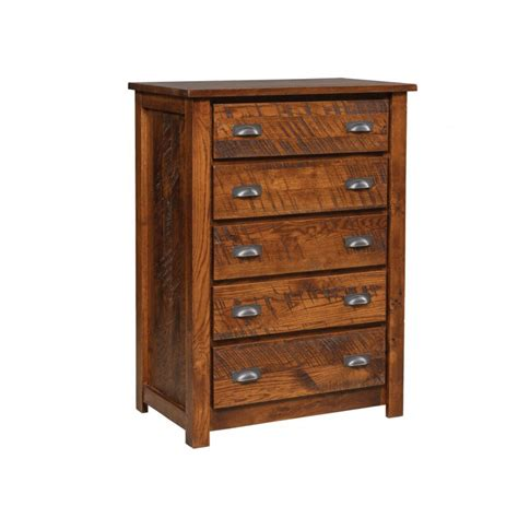 Rustic Nightstand Amish Crafted Furniture - rustic five drawer chest amish crafted furniture