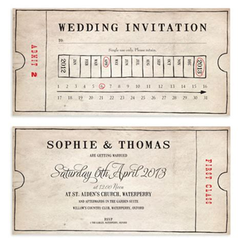 Fashioned Ticket Template Old Fashioned Bus Ticket Wedding Invitation