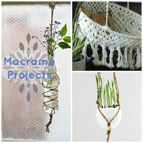Macrame Crafts - how to tie basic macrame knots crafts