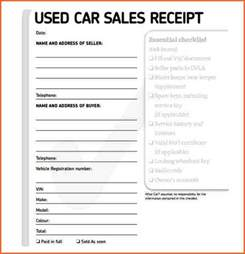 4 deposit receipt for car sale budget template letter
