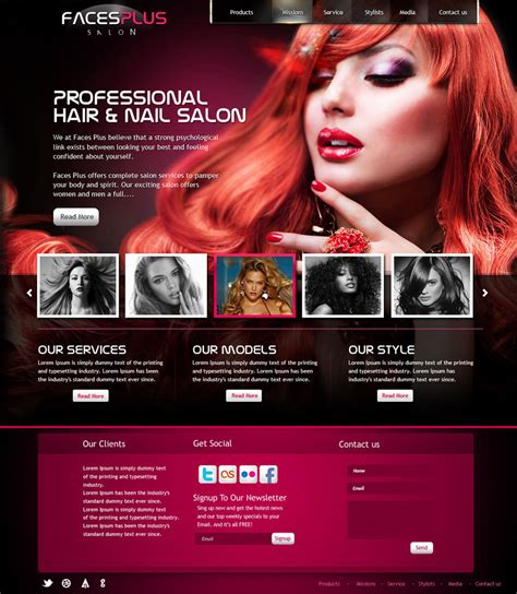 exles of hair websites hair salon website design by yuval10203 on deviantart