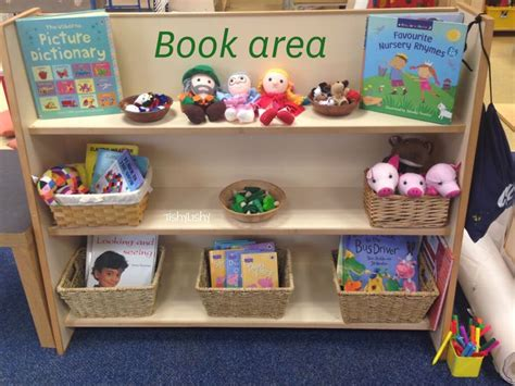 book area shelf my early years classroom and provision