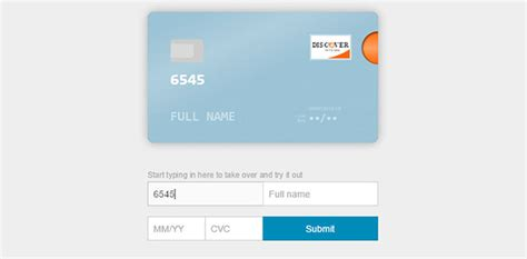 Credit Card Form Jquery 8 Jquery Credit Card Form Plugins Web Graphic Design Bashooka