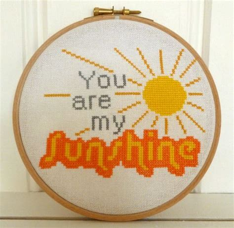 cross stitch pattern you are my sunshine pinterest the world s catalog of ideas