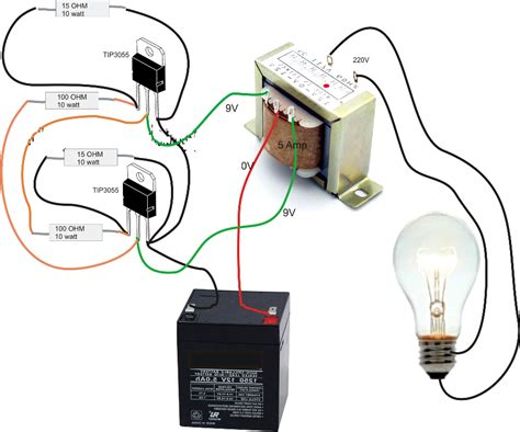 simple inverter circuit diagram electrical
