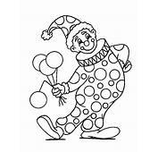 Kleurennu  Clown Met Ballonnen Kleurplaten