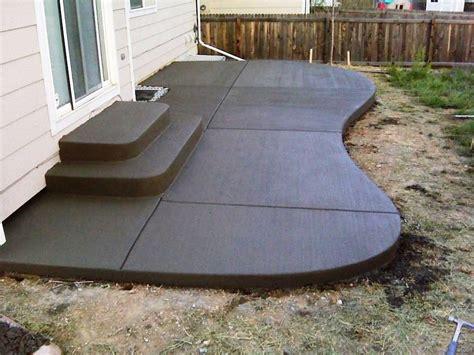 small concrete patio design ideas   Concrete Patio Ideas