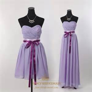 strapless chiffon bridesmaid dress lilac