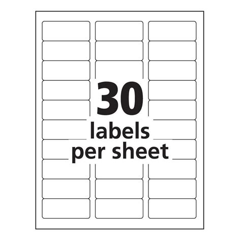 Avery 8160 Label Template Word Templates Data Avery Tags Template