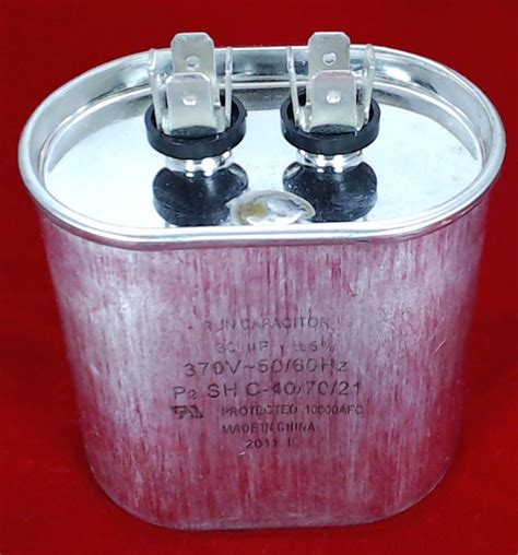 30 mfd run capacitor cr30x370 run capacitor oval 30 mfd 370 volt