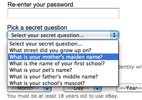use secure password creation methods for more security questions