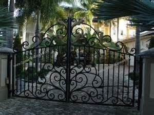 Iron gate electric entrance gates electric custom design gates