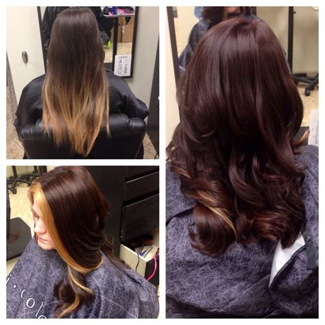 change dark mahogany brown hair to natural chocolate brown with highlights before and after gorgeous dark chocolate mahogany brown