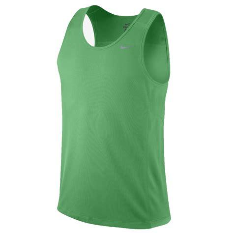 Running Singlet S Nike nike miler mens running singlet green sportitude