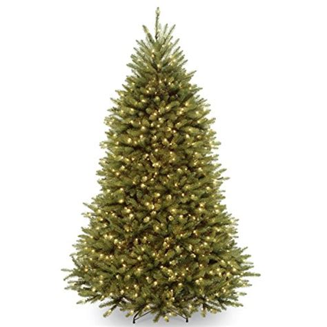 national tree dunhill fir hinged pre lit christmas tree
