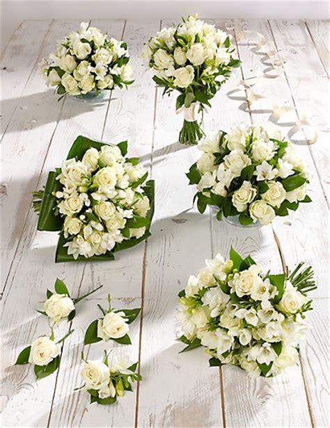 white wedding 1 800 flowerscom white rose freesia wedding flowers collection 3 m s