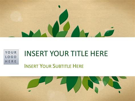 nature template for powerpoint and impress