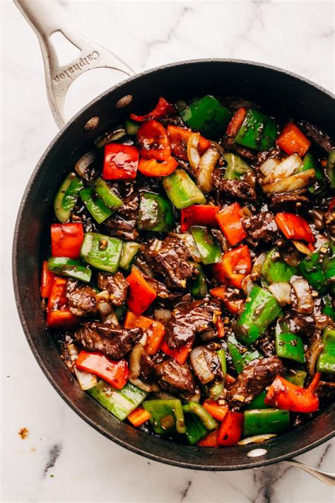 Todays Special Stir Fried Peking With Peppers And Green Beans by Garlic Pepper Steak Stir Fry Recipe Spice Jar