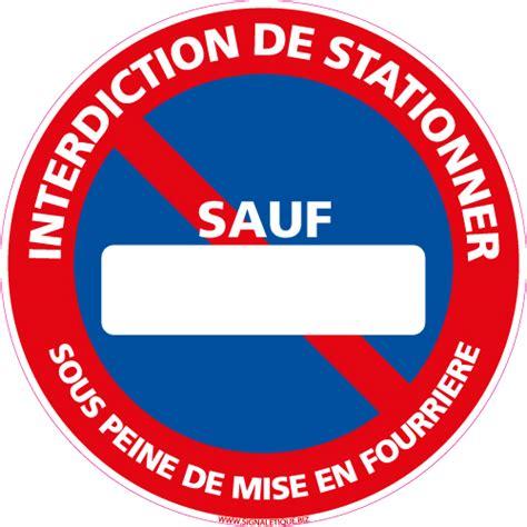 uni pv lettere panneau stationnement interdit personnalis l0140