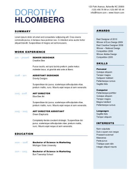 Contemporary Resume Templates Free by 50 Free Microsoft Word Resume Templates For