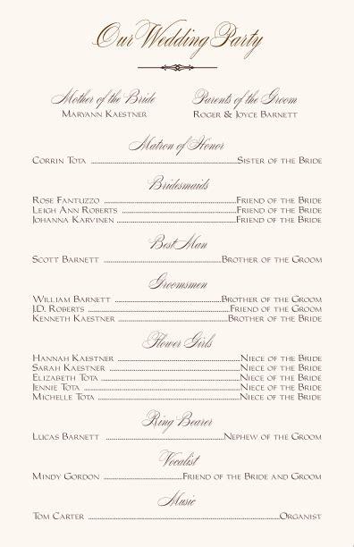 Free Printable Wedding Programs Templates Wedding Party Printable Wedding Programs Wedding Program Template