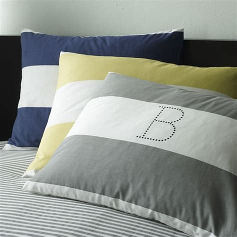 Navy White Duvet Cover Stripe Duvet Cover Shams White Navy West Elm