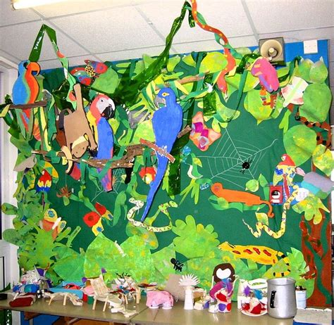 rainforest craft ideas for rainforest bulletin board idea for crafts and