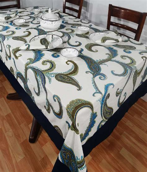 Blue Table L Heritagefabs Harmony Blue Table Cover Buy Heritagefabs Harmony Blue Table Cover At Low
